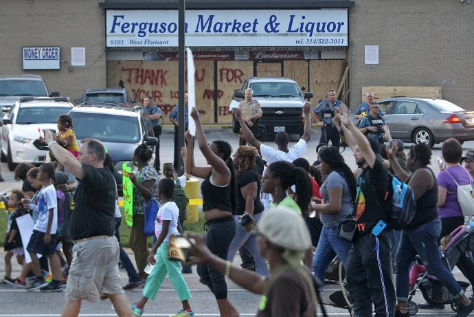Jesse Jackson visits as protests continue