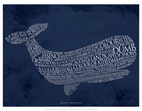 moby-dick word poster